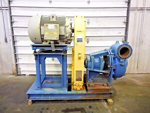 Rx 3603 Metso Mm250 Lhc d 10 X 8 Slurry Pump W 125hp Motor And Frame