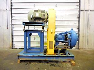 Rx 3608 Metso Mm200 Lhc d 8 X 6 Slurry Pump W 40hp Motor And Frame