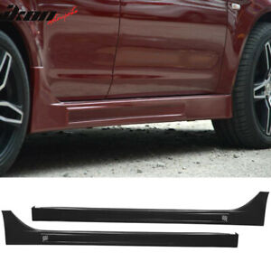Fits 08 15 Lancer Fq Fq440 Style Side Skirts Extension Pp Polypropylene