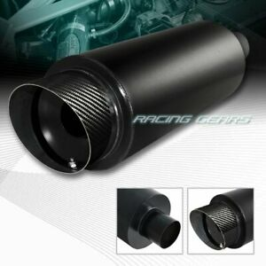 4 Fire Ball Carbon Slant Tip 3 Inlet Black Stainless Exhaust Muffler Silencer