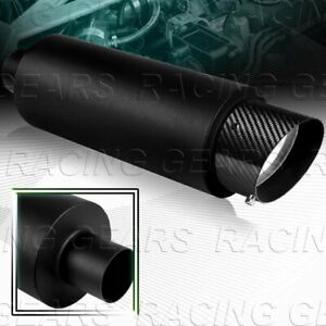 4 Fire Ball Carbon Tip 3 Inlet Racing Black Stainless Exhaust Muffler Silencer