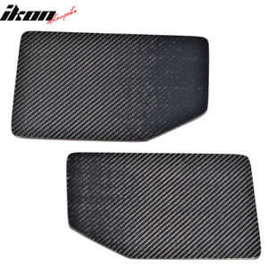 V1 Universal Gt Trunk Spoiler Wing Side Plate Add On Carbon Fiber Cf