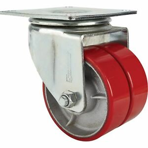 Strongway 6in Swivel Heavy duty Dual wheel Caster 2 200lb Cap Poly steel