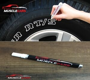 Car Motorcycle Tire White Letters Lettering Sidewall Paint Marker Pen