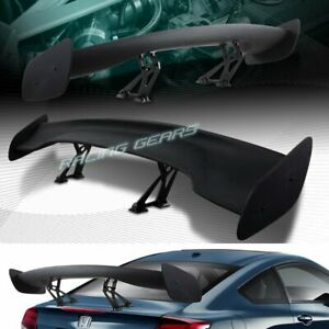 Universal 57 Wing Dragon 3 Style Black Abs Gt Trunk Adjustable Spoiler Wing