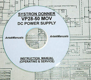 Systron donner Vp28 50 Power Supply Operating Service Manual W Schematics