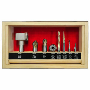 Powermatic 1797003 Cnc Router Bit Set For Cutting Operations 8 piece New