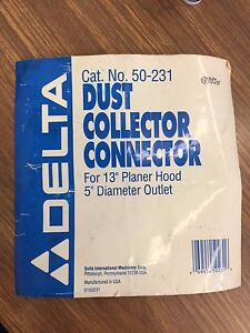 Delta Dust Collector Connector For 13 Planer Hood 5 Diameter Outlet Cat No 5