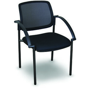 Marvel Mesh Stackable Visitor Chair W arms Black mrvwctktafmobu