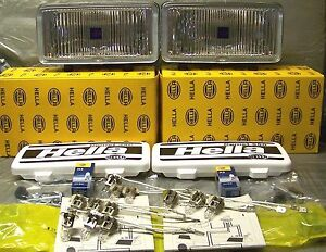 2 New Hella 550 Made In Germany Clear Fog Lights fog Lamps