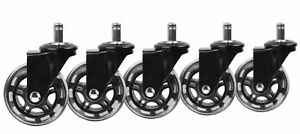 Slipstick Rollerblade Office Chair Casters Set Of 5