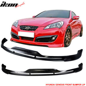 Fits 10 12 Hyundai Genesis Coupe 2dr Type S1 Front Bumper Lip Spoiler Pu