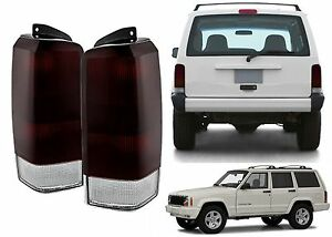 Replacement Tinted Tail Lights For 1997 2001 Jeep Cherokee Xj New Free Shipping