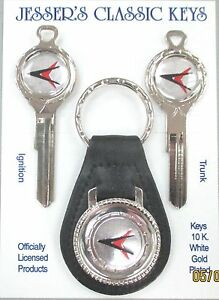 1970 Forward Look Chrysler White Gold Deluxe Classic Keys Set Dodge Plymouth