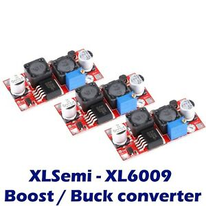 3x Xl6009 Boost Buck Module Dc dc Adjustable Step Up Down Voltage Converter