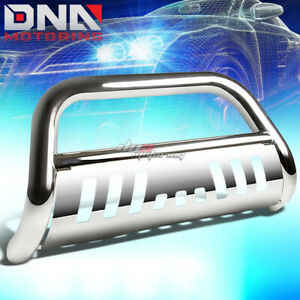 For 15 17 Chevy Colorado Gmc Canyon Stainless Steel Chrome Bull Bar Grill Guard