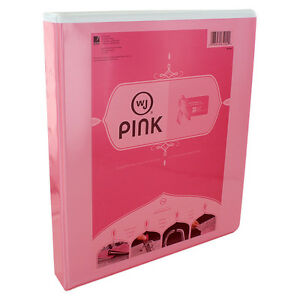 Wilson Jones Locking D ring Binder 1 Rings Letter Size Pink Pack Of 12