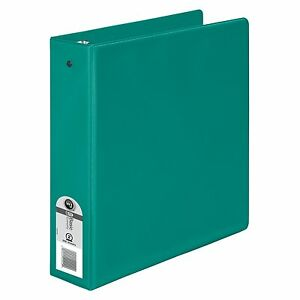 Wilson Jones Basic Round Ring Binder 2 Capacity 8 5 X 11 Green Pack Of 12