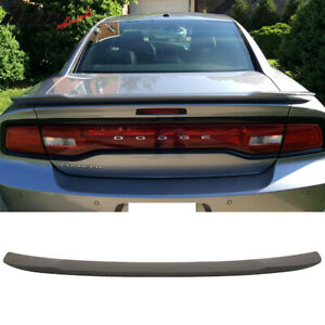 Fits 15 18 Dodge Charger Srt8 Hellcat Rear Trunk Spoiler Matte Black Finish Abs