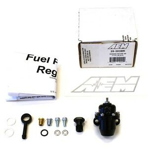 Aem Billet Fuel Pressure Regulator Fpr For 86 93 Acura Integra 25 303bk