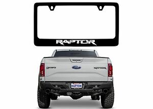 Ford Raptor Black Stainless Steel License Plate Frame New Free Shipping Usa