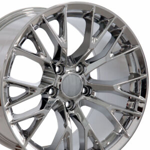 17x9 5 Chrome C7 Corvette Z06 Style Wheels Set Of 4 Rims Fit Camaro Firebird Oew