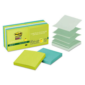 120 Post it Super Sticky Pop up Notes 3 X 3 Tropic Breeze 90 sheet Pads
