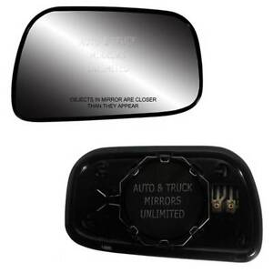 New Mirror Glass With Backing Heated 92 01 Toyota Camry Usa Passenger Side