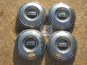 1968 74 Ford Fairlane Falcon Ranchero Poverty Dog Dish Hubcaps Set Of 4