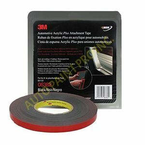 3m Automotive Acrylic Plus Attachment Tape 06382 Black Auto Paint Restoration