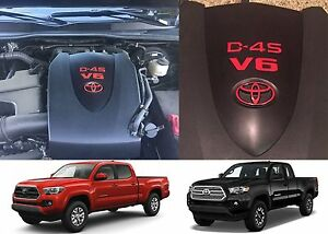 Red Vinyl Engine Valve Cover Decal For 2016 2019 Toyota Tacoma New Free Shipping