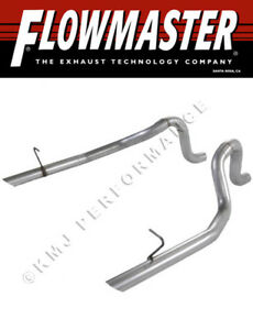 Flowmaster 15804 1987 1993 Mustang Lx 5 0l 86 Gt 2 5 Mandrel bent Oem Tailpipes