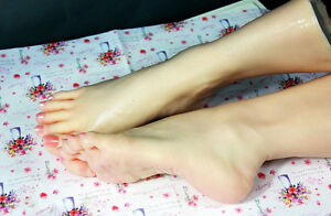Silicone Lifelike Mannequin Foot Dummy Arbitrarily bent posed soft Cloning Mode