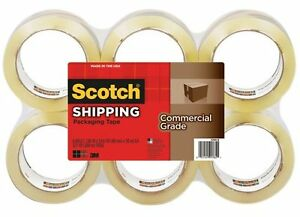 Scotch 375 Commercial grade Packaging Tape 3 Core Rubber Resin mmm37506