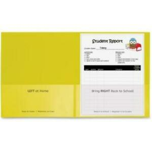 C line Classroom Connector Folders Yellow 25 bx 32006 Letter 8 1 2 X 11