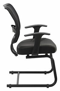 Space Seating Professional Air Grid Back Visitors Chair With Eco Leather Seat