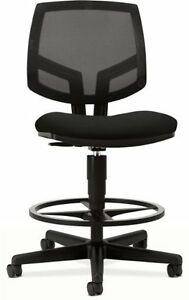 Hon Volt Seating Mesh Task Stool Fabric Black Seat Back Black 5715ga10t