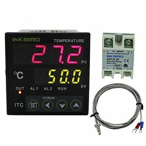 Inkbird 220v Pid Temperature Controller Digital Thermostat K Probe 25da Ssr