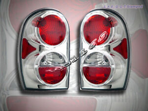 2002 2007 Jeep Liberty Altezza Tail Lights Chrome 2003