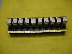 Lot Of 10 finder 24v 55 34 8 024 0040 Power Relay In Type 94 04 Relay Socket