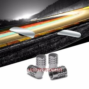 Rectangular Blind Spot Mirror Ty70 4xsilver Round Gear Tire Rim Valve Cover Caps