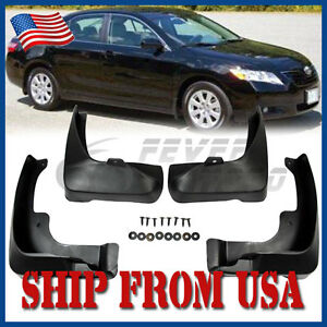 Us Black Mud Flaps Splash Guards Fende Rear Front Fit Toyota Camry 2007 2011 Fm