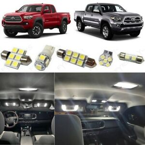 12x White Led Interior Lights Package Kit 2016 2018 2019 Toyota Tacoma Tool Tt5w