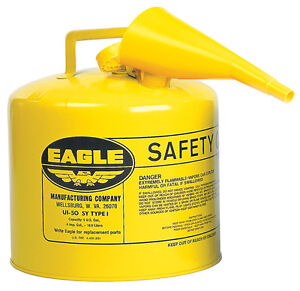 Eagle Diesel Can 5 Gal Meets Osha Nfpa Code 30 Requirements Metal