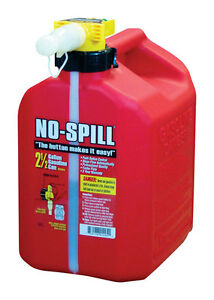 No Spill Plastic Gas Can 2 5 Gal