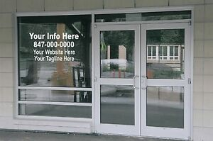 4 Line Custom Window Lettering Decal Business Retail Graphics Large Your Info