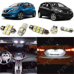 6x White Interior Led Light Package Kit Fits 2014 2017 Nissan Versa Note Nv1w