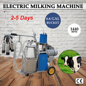 Electric Milking Machine For Cows Or Cattle 110v 220v With 25l Bucket