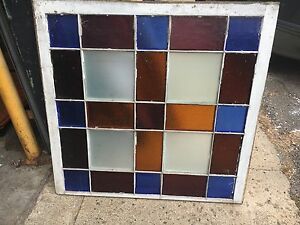 Gorgeous C1870 Stain Glass Window Ny State Church Brilliant Colors 40 X 39