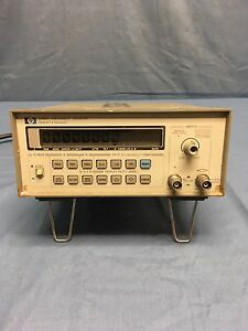 Hp Agilent 5385a 10hz To 1ghz Frequency Counter Tested